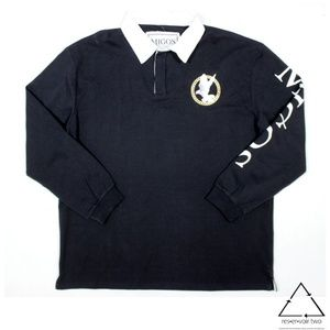 Migos Dove Long Sleeve Rugby Polo Shirt
